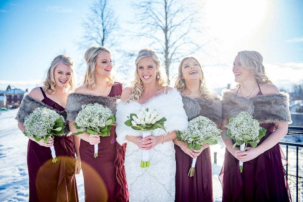 bride and her bridal party