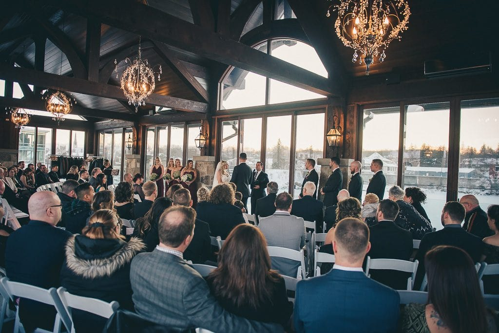 Wedding ceremony at the Cambridge Mill