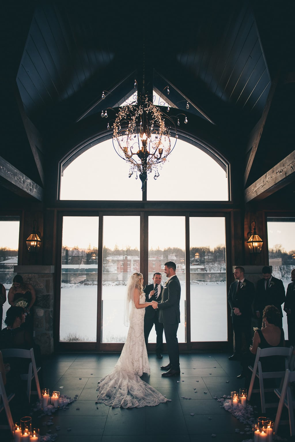 wedding ceremony photo at Cambridge Mill