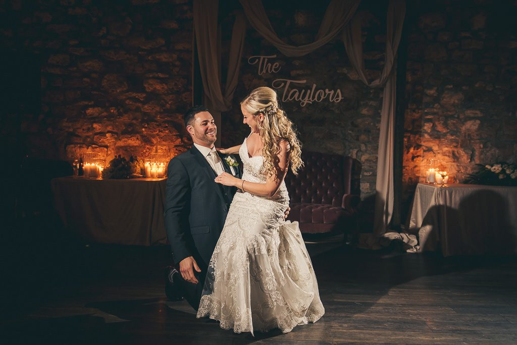 bride and groom first dance at the Cambridge Mill