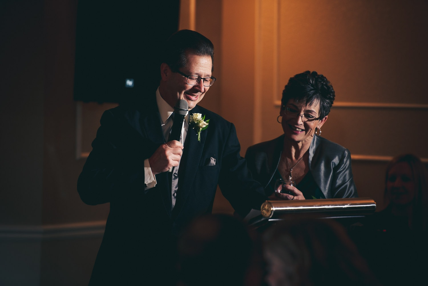 speeches during Elmhurst Inn wedding